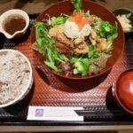 暑くても 鶏の竜田揚げと野菜をしっかり食べる