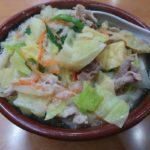 「手打ちうどん こんぴら」で今回は野菜たっぷりでアツアツの「味噌うどん」を食む。