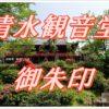 清水観音堂(東京・上野)に参拝し御朱印をいただく。千手観世音の御朱印は一度見たら忘れないほどの力強さ。